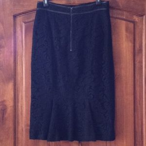 Burberry lace pencil skirt size 8